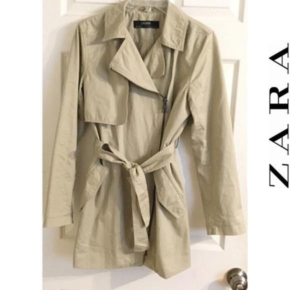47a38461 Zara Jackets & Coats | Lightweight Asymmetrical Trench Coat M | Poshmark